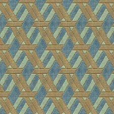 Aqua/Taupe Contemporary Decorator Fabric by Groundworks