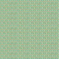 Aqua Geometric Decorator Fabric by Groundworks