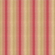 Cerise Stripes Decorator Fabric by Groundworks