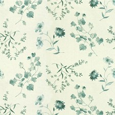 Aqua Botanical Decorator Fabric by Groundworks