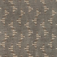 Smoke Geometric Decorator Fabric by Groundworks