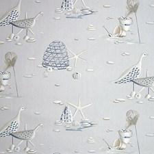 Bleu Gris Decorator Fabric by Scalamandre