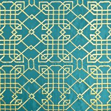 Turquoise Contemporary Decorator Fabric by Kasmir