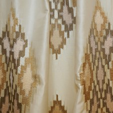 Creme/Beige/Green Transitional Decorator Fabric by JF