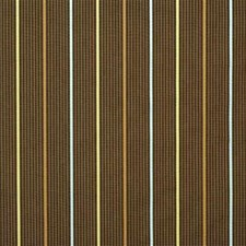 Chocolate Stripes Decorator Fabric by G P & J Baker