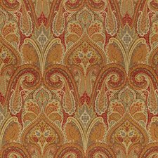 Burgundy/Red/Yellow Paisley Decorator Fabric by Kravet