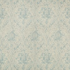 Light Blue/Ivory Damask Decorator Fabric by Kravet