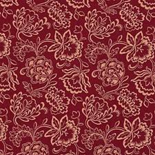 Crimson Botanical Decorator Fabric by Laura Ashley