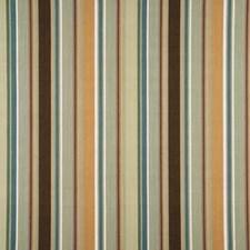 Aqua/Taupe Stripes Decorator Fabric by Baker Lifestyle