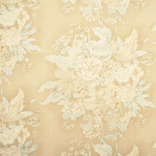 Aqua/Cream Botanical Decorator Fabric by Baker Lifestyle