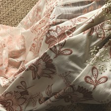 Pink Floral Decorator Fabric by JF