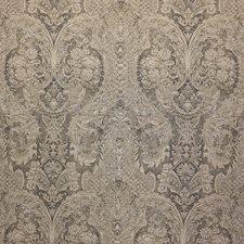 Gold/Black/Metallic Damask Decorator Fabric by Kravet