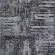 Black/Grey/Silver Geometric Decorator Fabric by Kravet