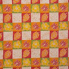 Rust/Green/White Botanical Decorator Fabric by Kravet