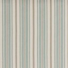 Aqua Stripes Decorator Fabric by Baker Lifestyle
