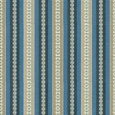 Indigo/Taupe Stripes Decorator Fabric by Baker Lifestyle