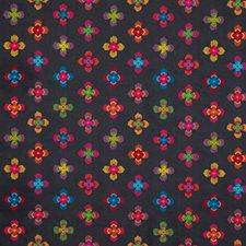 Indigo Embroidery Decorator Fabric by Baker Lifestyle