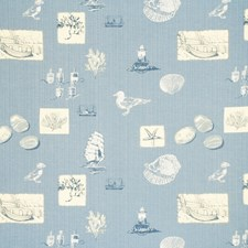 Mid Blue Animal Decorator Fabric by Parkertex