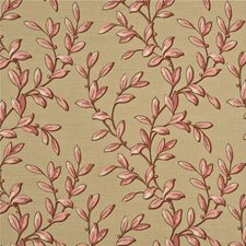 Red/Biscuit Print Decorator Fabric by Baker Lifestyle