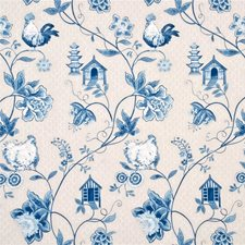 Blue Decorator Fabric by Baker Lifestyle