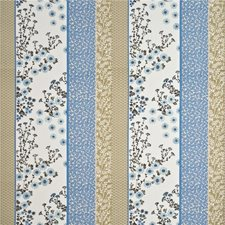 Aqua/Cobalt Embroidery Decorator Fabric by Baker Lifestyle