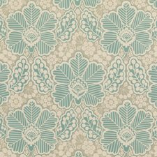 Aqua Print Decorator Fabric by Baker Lifestyle