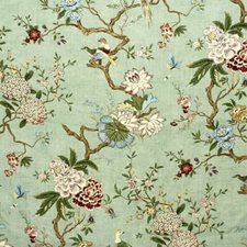 Eau De Nil Botanical Decorator Fabric by G P & J Baker