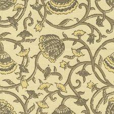Beige/Yellow/Brown Print Decorator Fabric by Kravet