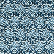 Blue/Offwhite Transitional Decorator Fabric by JF