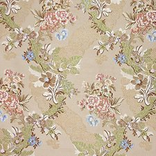 Ecru/Multi Decorator Fabric by Scalamandre