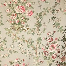 Cream Rose Decorator Fabric by Scalamandre