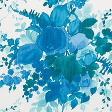 Blue Floral Large Decorator Fabric by Duralee