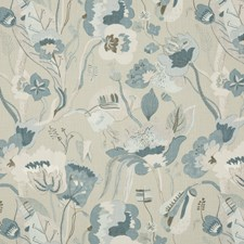Grey/Indigo Print Decorator Fabric by G P & J Baker