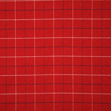 Red Check Decorator Fabric by Pindler