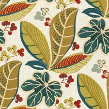 White/Green/Blue Botanical Decorator Fabric by Kravet