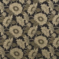 Burnt Umber Botanical Decorator Fabric by Mulberry Home