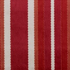 Red/Clay Stripe Decorator Fabric by Duralee