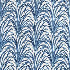 White/Blue/Indigo Botanical Decorator Fabric by Kravet