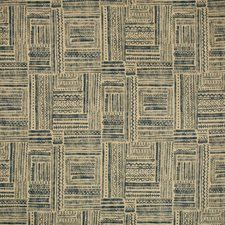 Dark Blue/Beige/Neutral Ethnic Decorator Fabric by Kravet
