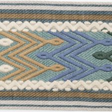 Tapes Lagoon/Teal Trim by Lee Jofa
