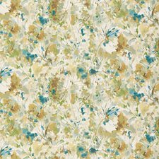 White/Turquoise/Mint Botanical Decorator Fabric by Kravet