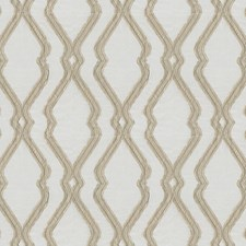 Beige Ogee Decorator Fabric by JF