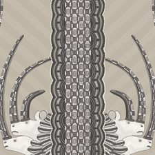 Linen/Black Print Wallcovering by Cole & Son Wallpaper