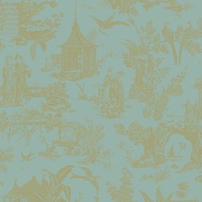 Turquoise Wallcovering by Brewster