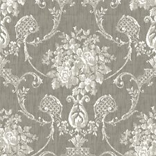 Grey Traditional Wallpaper Wallcovering by Brewster