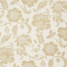 Ivory Gold Floral Wallcovering by Fabricut Wallpaper
