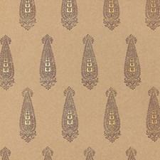 Aubergine/amp/Gilt Wallcovering by Schumacher Wallpaper