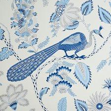 Bleu/Gris Wallcovering by Schumacher Wallpaper