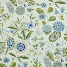 Blue/Ivory Wallcovering by Schumacher Wallpaper