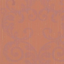 Pearl Gray/Orange Damask Wallcovering by York
